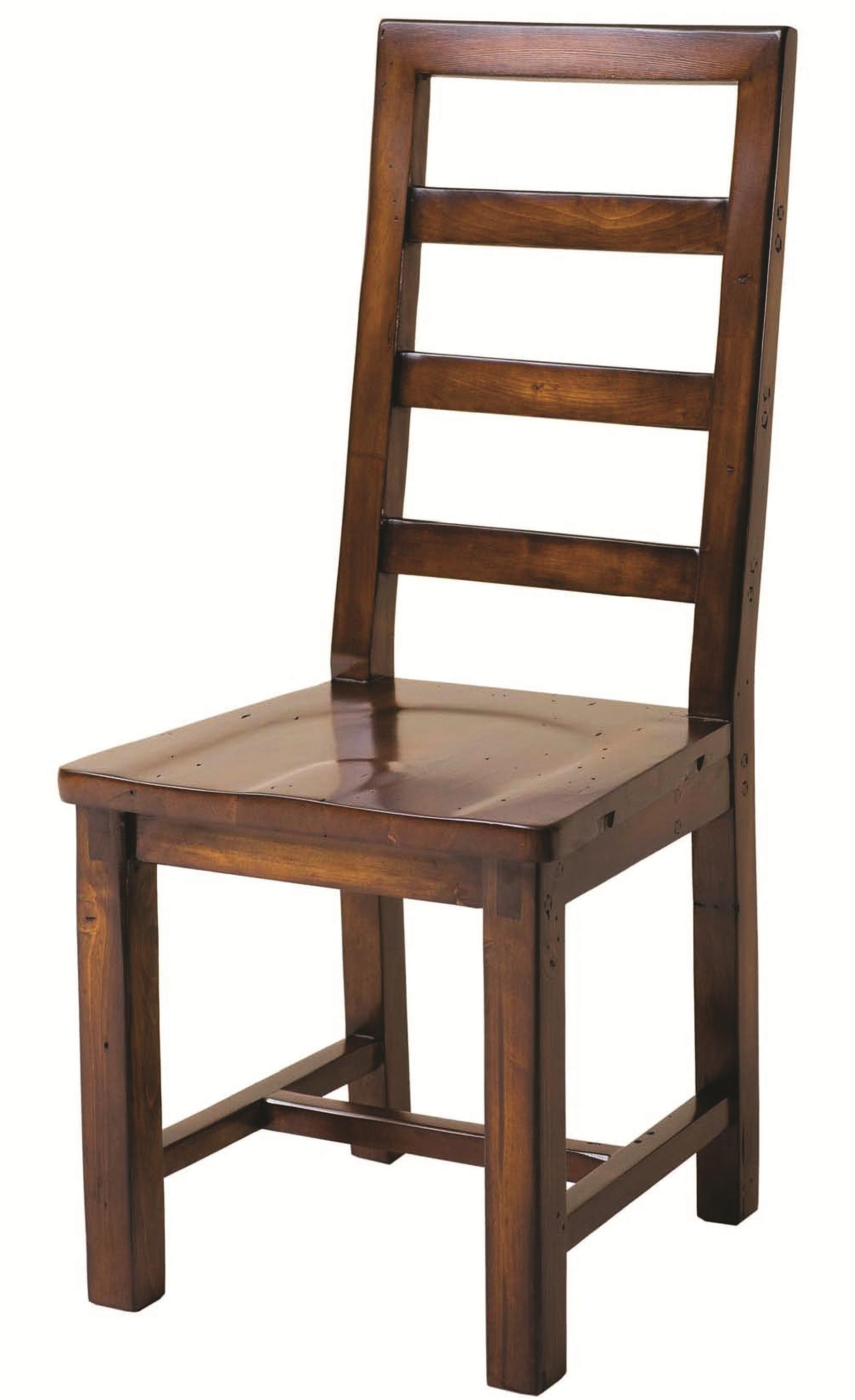 Four Hands Post and Rail Dining Chair - Item Number: VPRD-02T