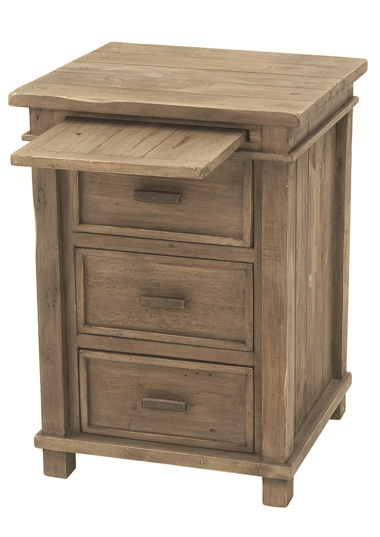 Four Hands Settler 3 Drawer Bedside Cabinet With Pull Out