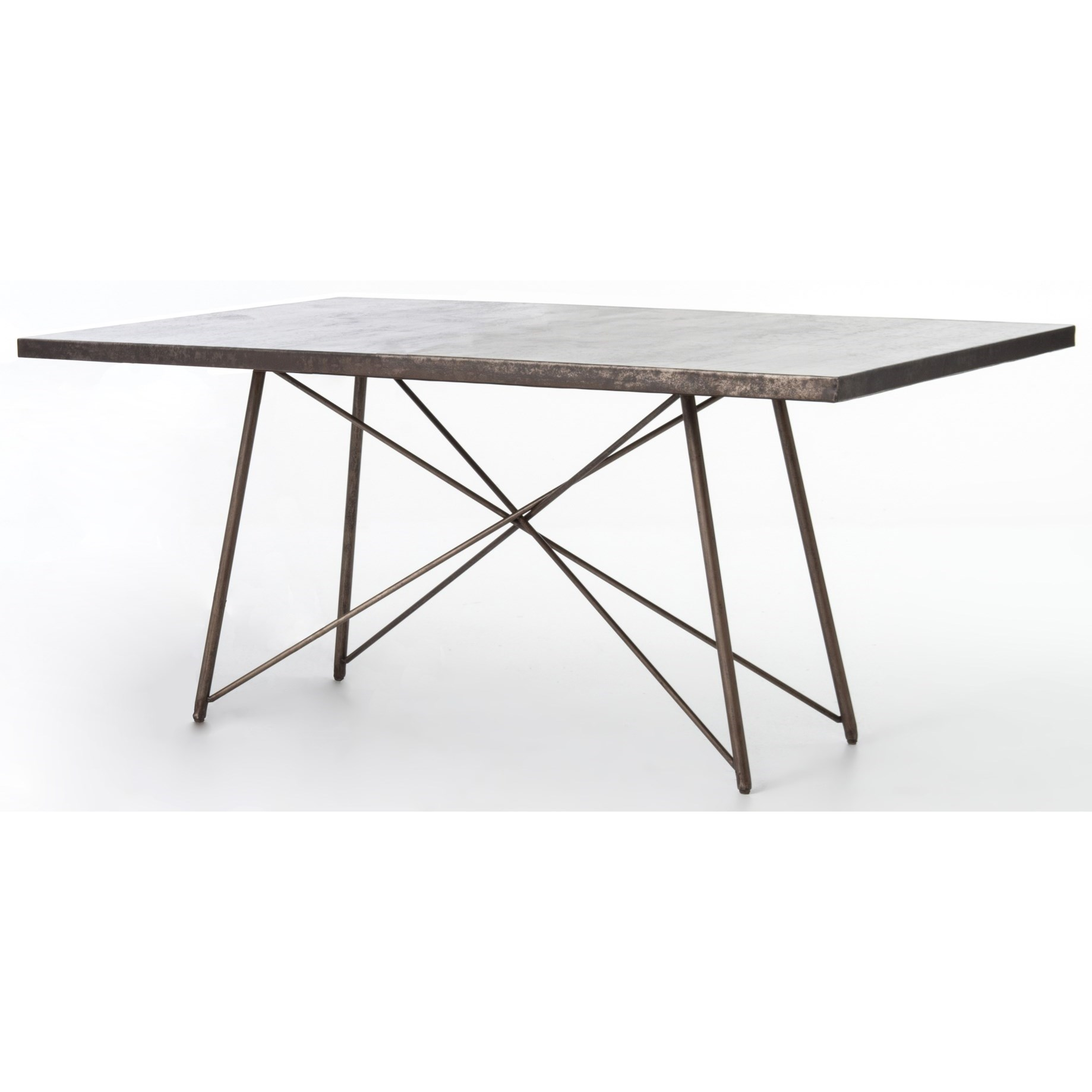 "Four Hands Wesson Roman 84"" Dining Table - Item Number: UWES-026"