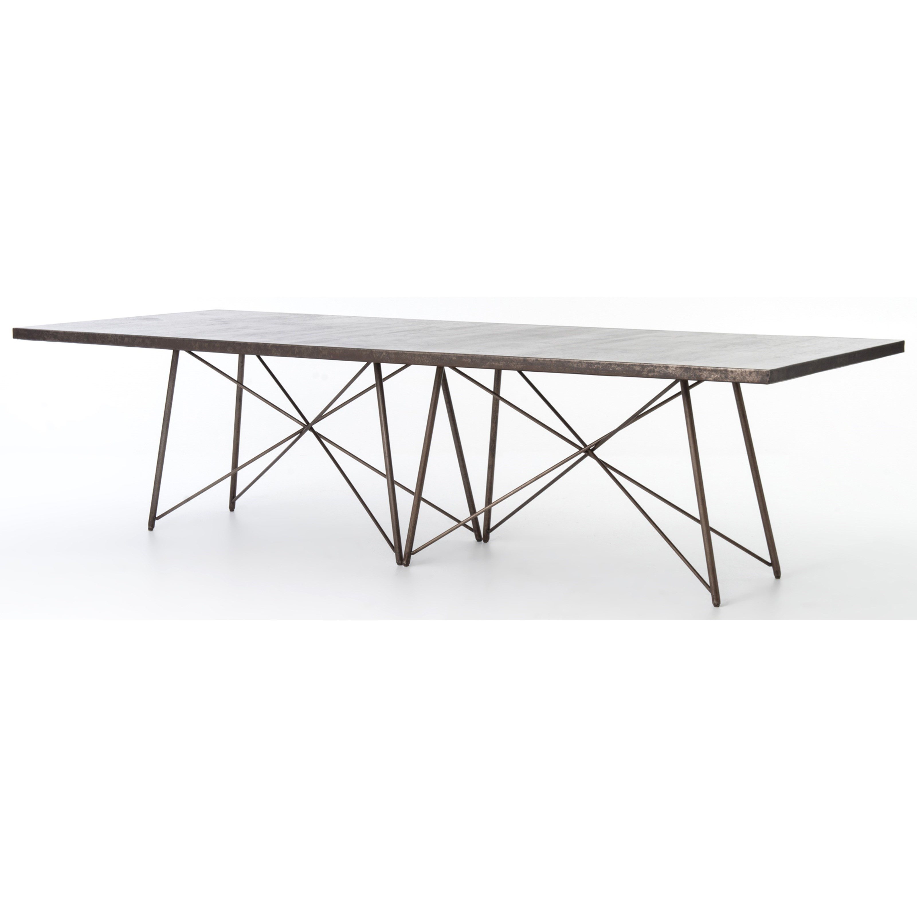 "Four Hands Wesson Roman 114"" Dining Table - Item Number: UWES-027"