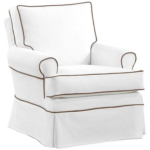 Transitional Sara Swivel Glider Chair