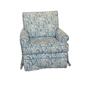 Four Seasons Furniture Accent Chairs Transitional Sarah Swivel Glider
