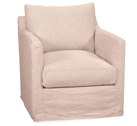 Transitional Miles Swivel Glider Chair