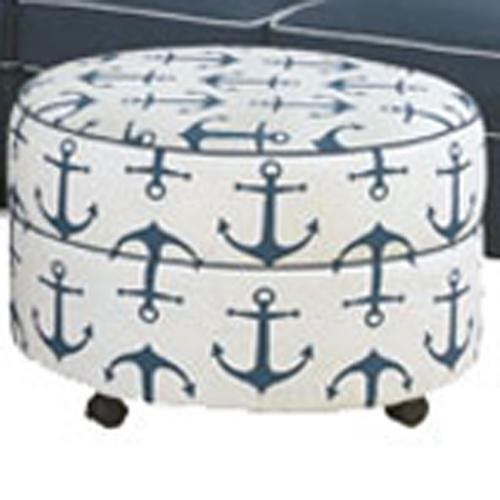Alexandria Casual Ottoman by Four Seasons Furniture at Jordan's Home Furnishings