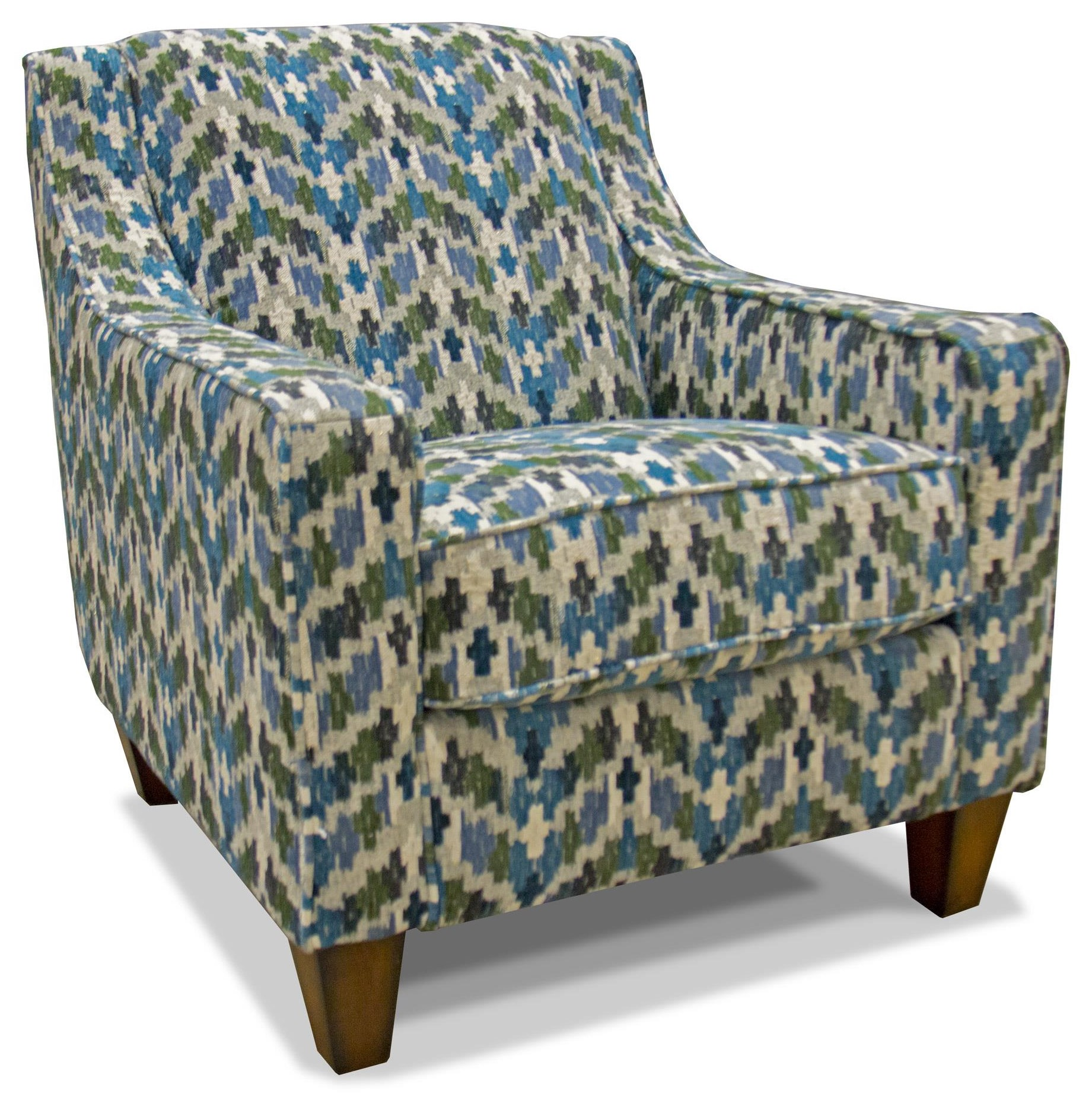 Franklin Piper Denim Accent Chair - Item Number: 2174-3772-45