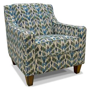 Franklin Piper Denim Accent Chair