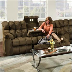 Franklin Brayden Reclining Sofa with Table, Lights & Storage