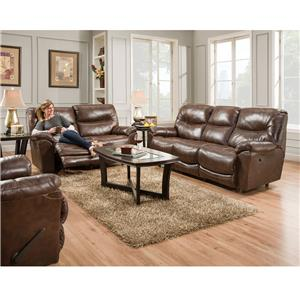 Franklin 457 Calloway Leather Power Reclining Loveseat