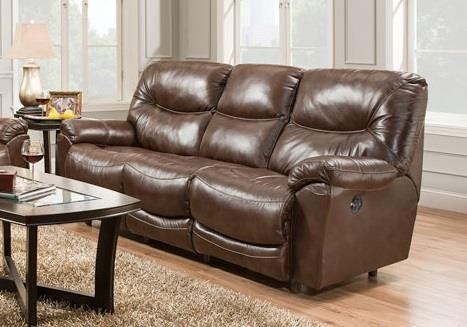 Franklin 457 Calloway Leather Power Reclining Sofa - Item Number: 45742-27 LM27-16