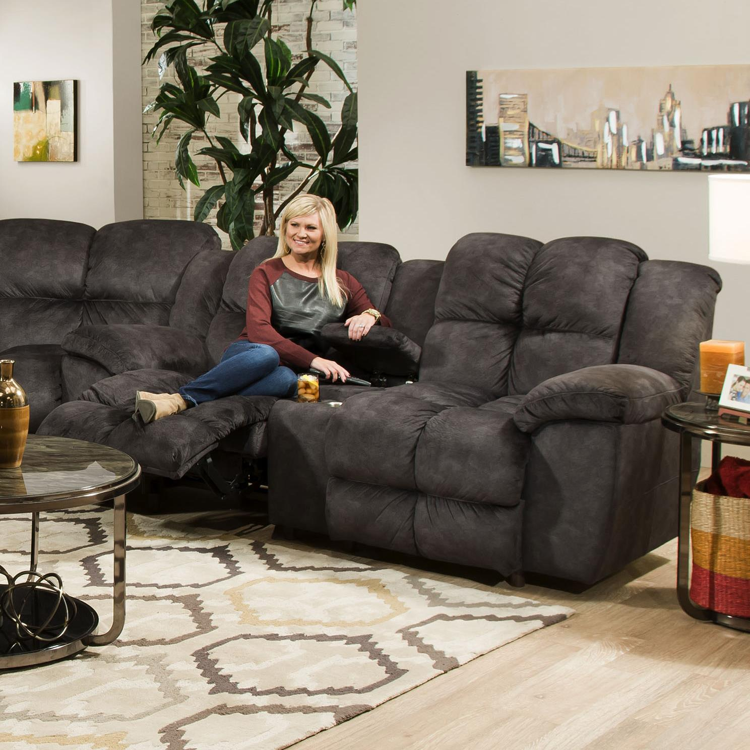Franklin 461 Reclining Console Loveseat - Item Number: 46134-8415-03