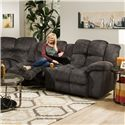 Franklin 461 Power Reclining Console Loveseat - Item Number: 46134-27-8415-03