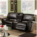 Franklin 463 Rocking Console Loveseat - Item Number: 46333 Bonded Leather