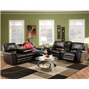 Franklin 463 Casual Rocking Reclining Loveseat with Console - 46333 Bonded Leather - Shown with Reclining Sofa