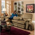 Franklin 463 Double Reclining Sofa with Table - Item Number: 46344 8128-16