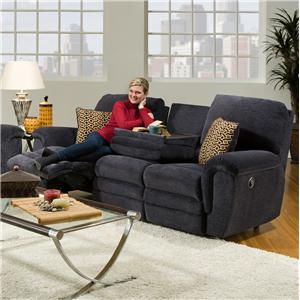 Franklin 463 Double Reclining Sofa with Table