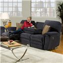 Franklin 463 Double Reclining Sofa with Table - Item Number: 46344 8128-45