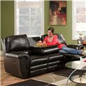 Franklin 463 Casual Double Reclining Sofa with Drop Down Console - 46344 Bonded Leather