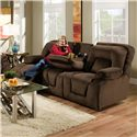 Franklin 473  Double Reclining Sofa with Table - Item Number: 47344