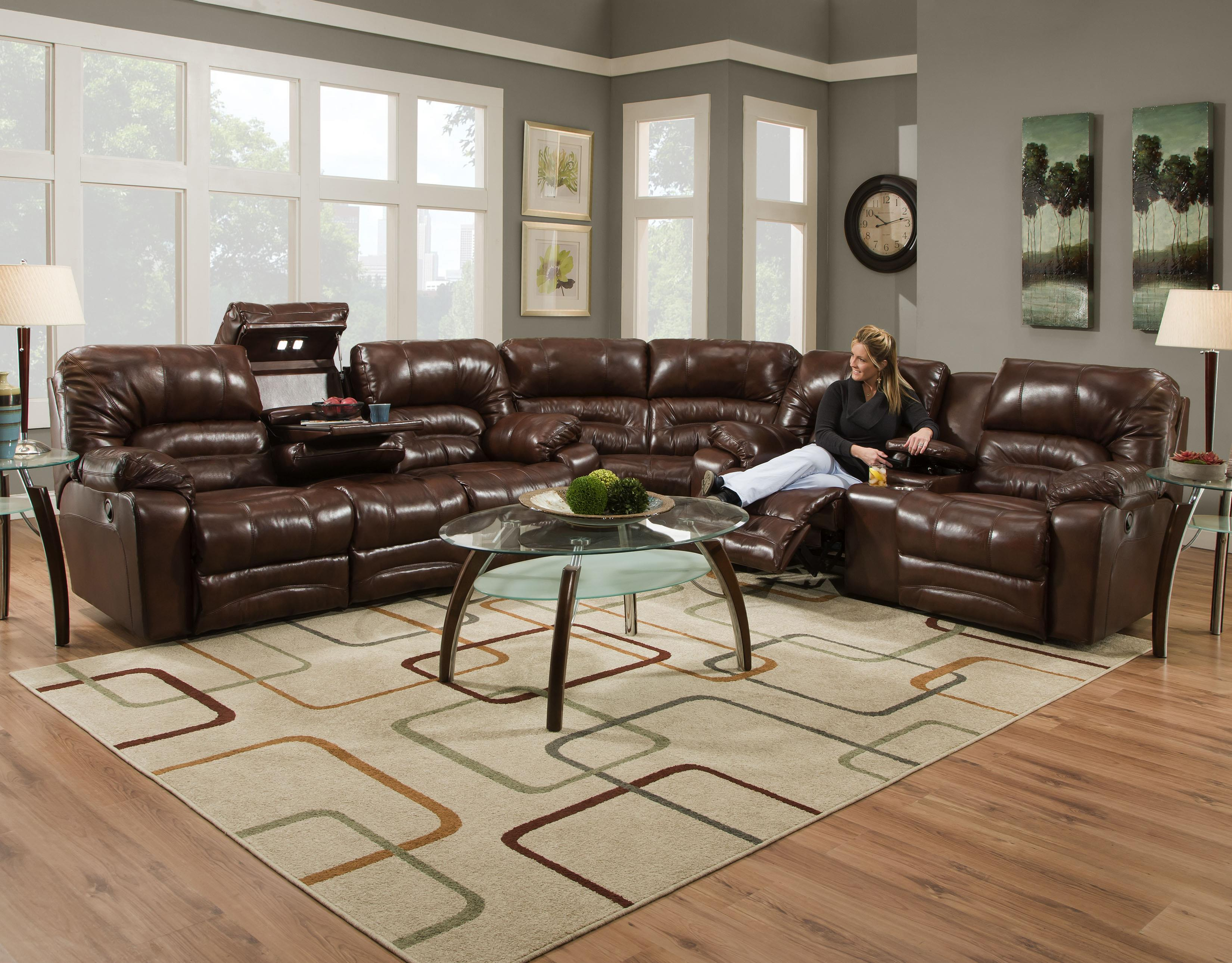 Legacy Power Reclining Sectional Sofa by Franklin at Turk Furniture
