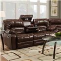Franklin Legacy Reclining Sofa with Table and Lights - Item Number: 50044-47-16