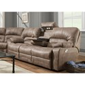 Franklin Legacy Power Reclining Sofa with Table and Lights - Item Number: 50044-83-8337-26