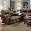 Franklin Legacy Reclining Sofa with Table and Lights - Item Number: 50044-8337-12