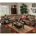 Franklin 542 Reclining Sofa with DDT/Drawer/Lights - 54239 8405-15 - Shown as Part of Sectional Sofa