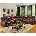 Franklin 564 Reclining Console Loveseat - 56434 LM 59-15 - Shown as Part of Sectional Sofa