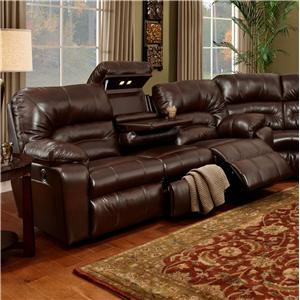 Franklin 596 Sofa with Lights, Drawer and Storage