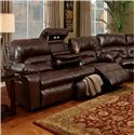 Franklin 596 Sofa with Lights, Drawer and Storage - Item Number: 59639 7113-15