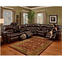 Franklin 596 Motion Sofa with Lights & Storage Drawer
