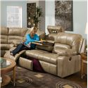 Franklin 596 Sofa with Lights, Drawer and Storage - Item Number: 59639-7113-26