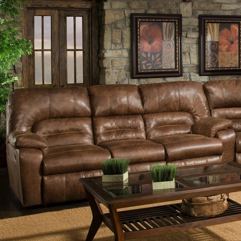 Franklin 596 Reclining Sofa with Table - Item Number: 59644 8934-15
