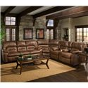 Franklin 596 Reclining Sofa with Table - 59644 8934-15 - Shown as Part of Sectional Sofa
