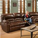 Franklin 596 Reclining Sofa with Table - Item Number: 59644 LM 71-15