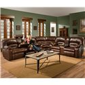 Franklin 596 3 Piece Reclining Sectional
