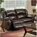 Franklin 691 Rocker Recliner Loveseat with Pillow Arms - 69123L