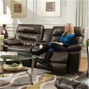 Franklin Domino Power Reclining Console Loveseat