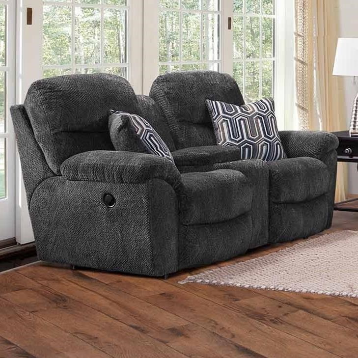 710 Reclining Console Loveseat by Franklin at Turk Furniture