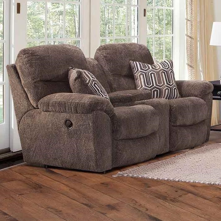 710 Reclining Console Loveseat by Franklin at Wilcox Furniture