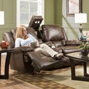 Franklin Excalibur Power Reclining Loveseat with Tech Gadgets - Item Number: 74334-8516-12