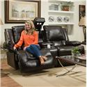 Franklin Excalibur Power Reclining Loveseat with Tech Gadgets - Item Number: 74334-LM78-10