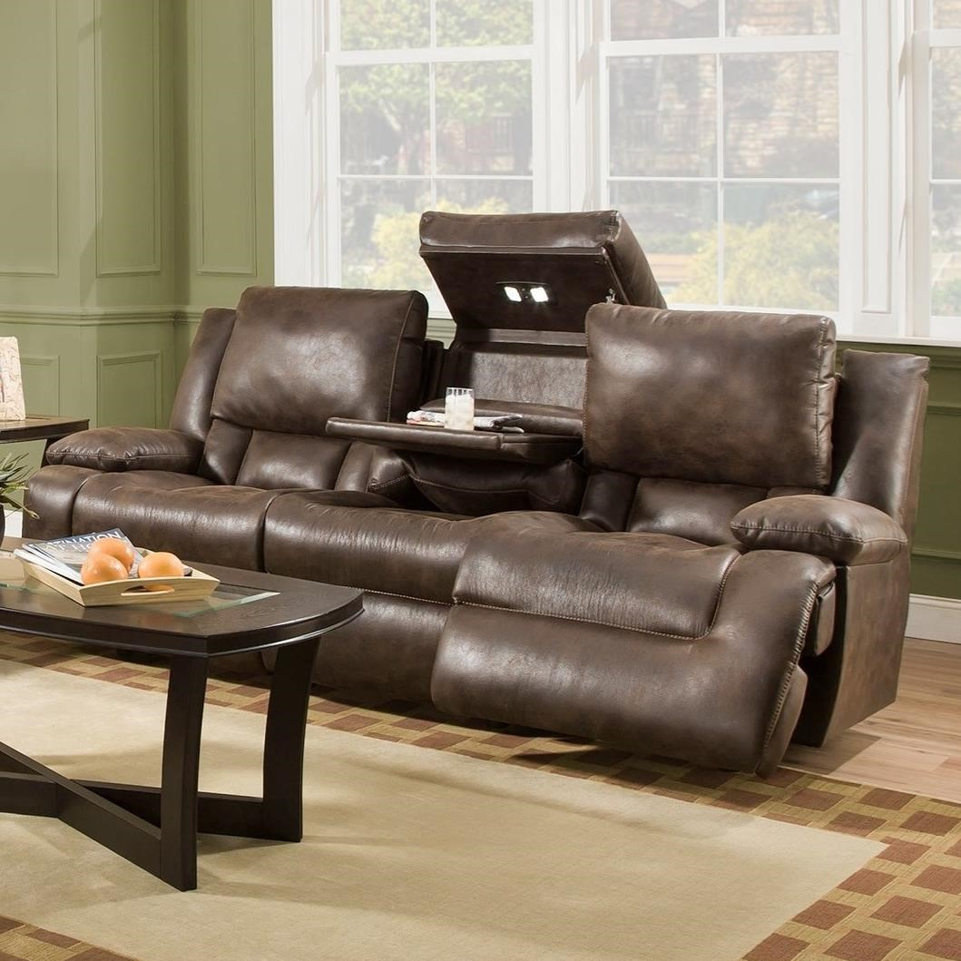 Franklin Excalibur Power Reclining Sofa with Tech Gadgets - Item Number: 74344-8516-12