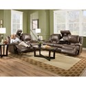 Franklin Excalibur Power Reclining Sofa with Adjustable Backrest, Lights, Storage and Drop Down Table