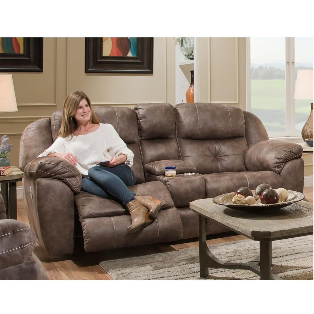 Franklin Conway Pwr Reclining Console Sofa w/Pwr Head - Item Number: 74935 8708-14