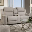 Franklin 762 Dual Power Reclining Console Loveseat - Item Number: 76235-1917-06
