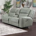 Franklin 762 Dual Power Reclining Console Loveseat - Item Number: 76235-LM 92-37