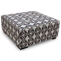 Franklin Cadet Cocktail Ottoman - Item Number: 75018-3510-16-Accent