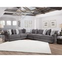 Franklin Journey Sectional Sofa with 5 Seats - Item Number: 80859+04+03+60-3637-04