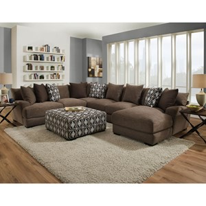 Franklin Cadet Sectional Sofa with 5 Seats and Chaise